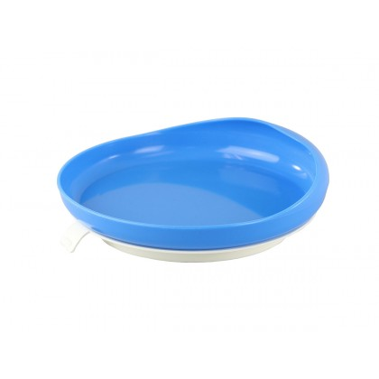 Scoop plate with suction cup base