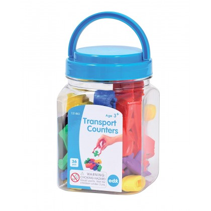 Edx Education Transport Counters in Mini Jar